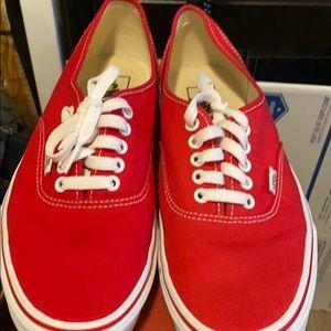 Men's red low van skater sneakers